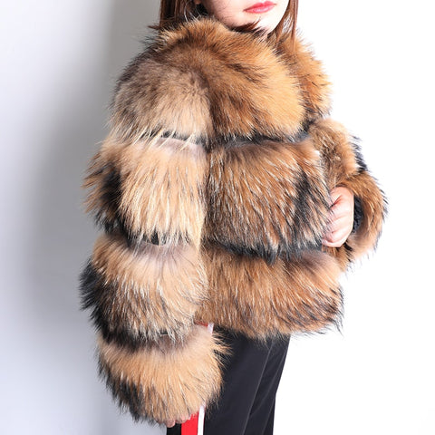 2020 Winter Natural Fox Fur Coat Women Short Section Warm Thickening Real Fox Fur Jacket Fashion Luxury Slim Coat Female