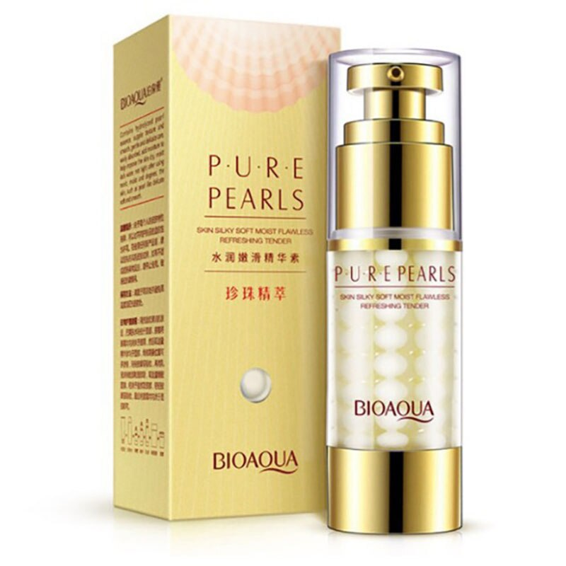 Pure Pearl Collagen Hyaluronic Acid Face Serum Cream Moisturizing Hydrating Anti Wrinkle Aging Essencn Creme blanchissante