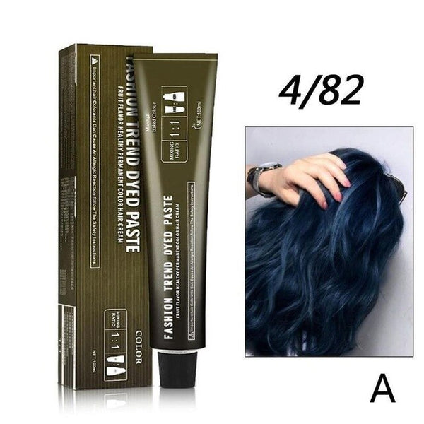 100ml Professional Hair Color Dye Cream Wax Ammonia Free Non-toxic Hair Color Cream Diy Hair Styling Blue Green For Women Men