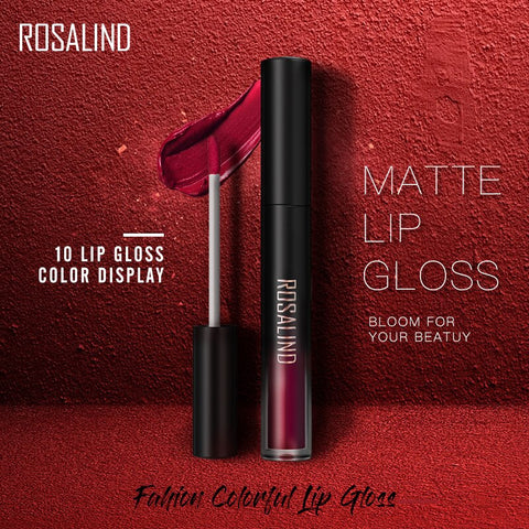 ROSALIND Lip Gloss Waterproof Lipstick Matte Long Hold Lip Tint Red Sexy Pigment Nude Lipstick Set Make Up Pomade Lip Cosmetics