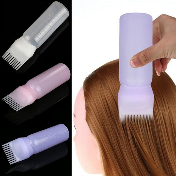 Empty Hair Dye Bottle With Applicator Brush Dispensing Salon Hair Coloring Dyeing Bottles Hairdressing Styling Tool 120ML
