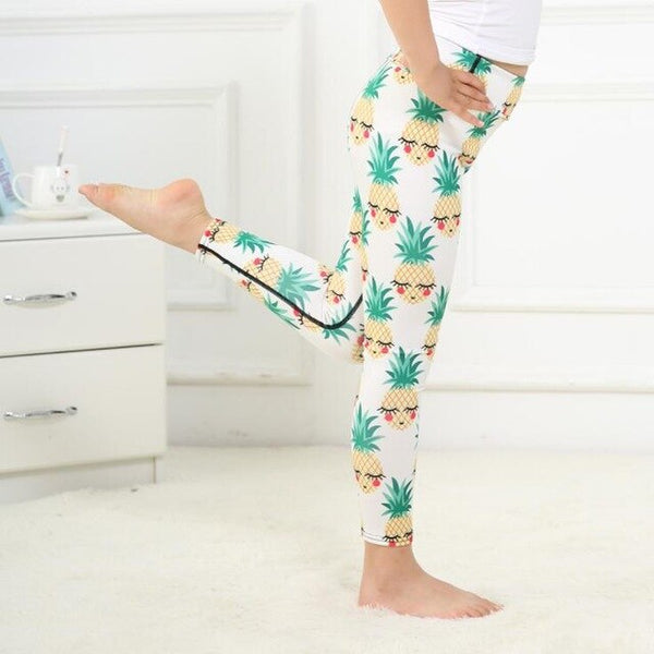 Girls Printed Fitness Leggings 2018 New Kids Legging Sport Running Pants  Girls School Pants