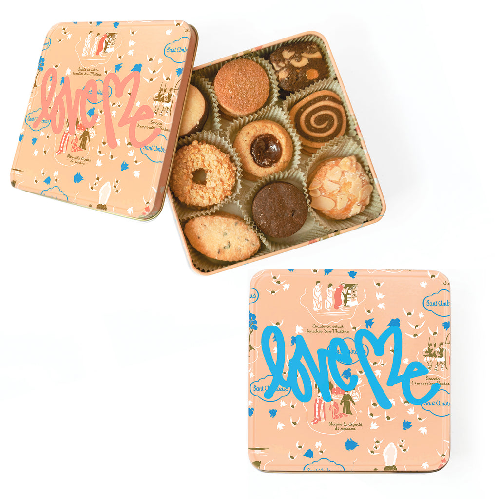 "Cookie Tins, ""Love Me"" by Curtis Kulig (Pink or Blue)"