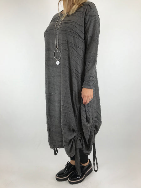 Lagenlook Patterned Wave Tunic in Grey. code 9046
