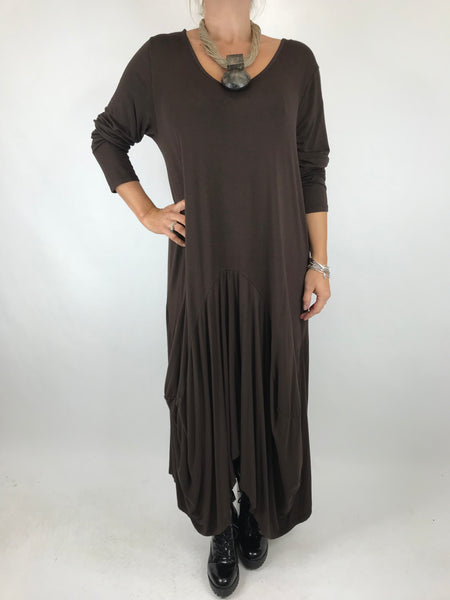 Lagenlook Misha Long Sleeve Jersey in Chocolate . code 98731
