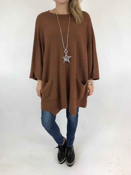 Lagenlook Lola Oversized Jumper In Dark Mustard. code 5361