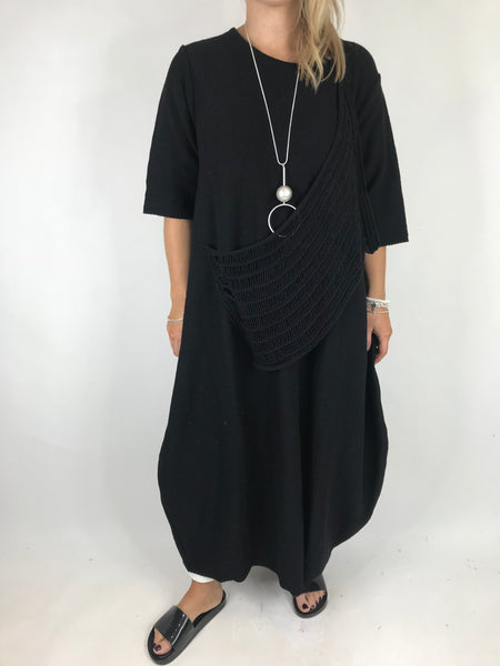 Lagenlook Nina Summer Knit Tunic in Black . code 2111