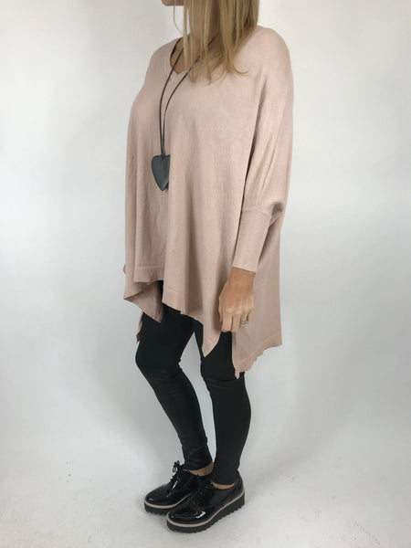 Lagenlook Clare Jumper In Pale pink. code 00001