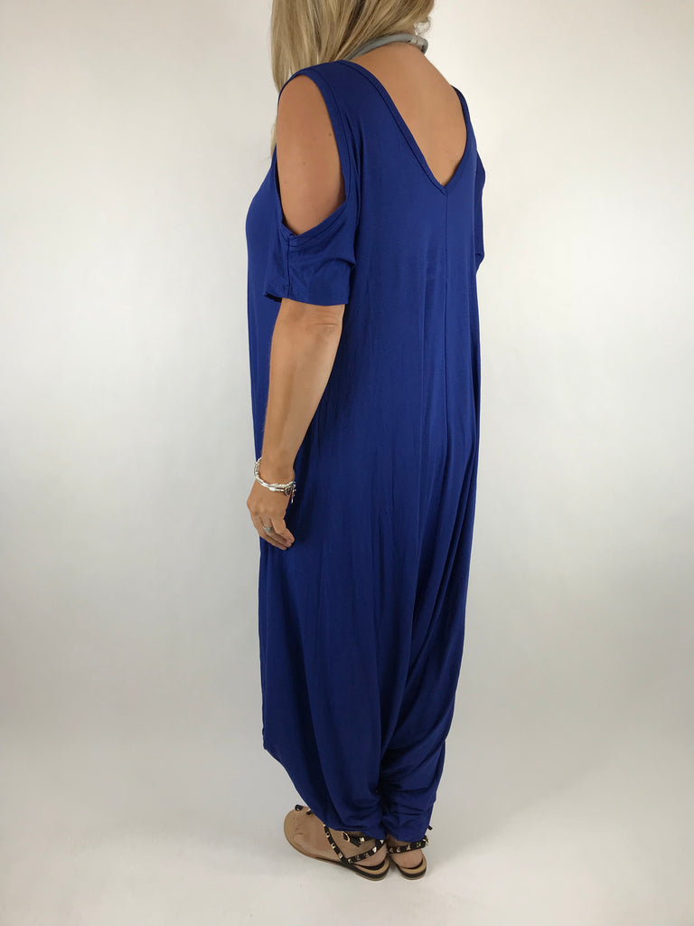 Lagenlook Made in Italy Jersey Jump Suit in Royal. code 1544