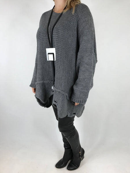 Lagenlook Lilly Jumper in Grey. Code 5588