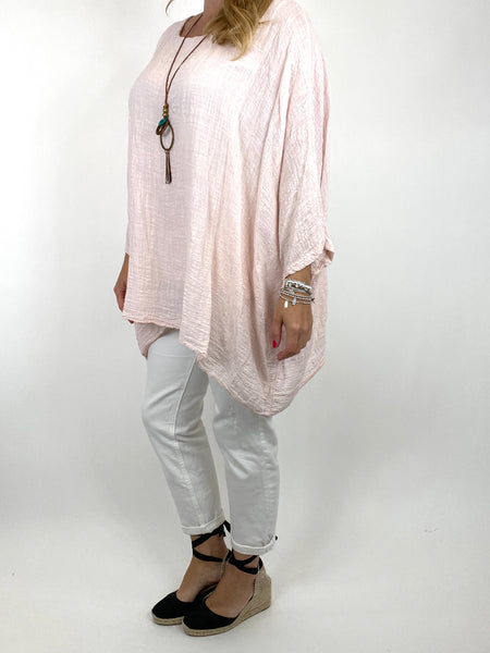 Lagenlook Nina necklace top Regular size in Pale Pink. code 9066