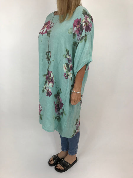 ecfe84c0052 ... Lagenlook Nikki Summer Flower Tunic in Mint. code 5682