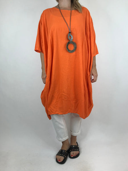 Lagenlook Cocoon Top in Orange. code 5808