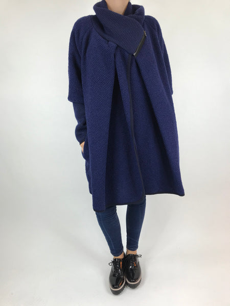 Lagenlook Made In Italy Coatigan in Royal Blue. code 9097