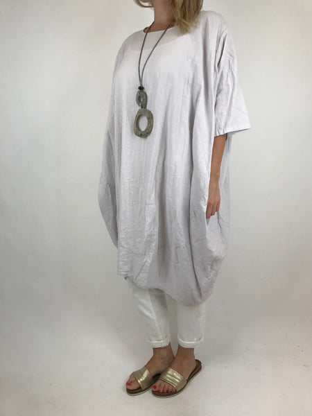 Lagenlook Cocoon Top in Pale Grey. code 5808