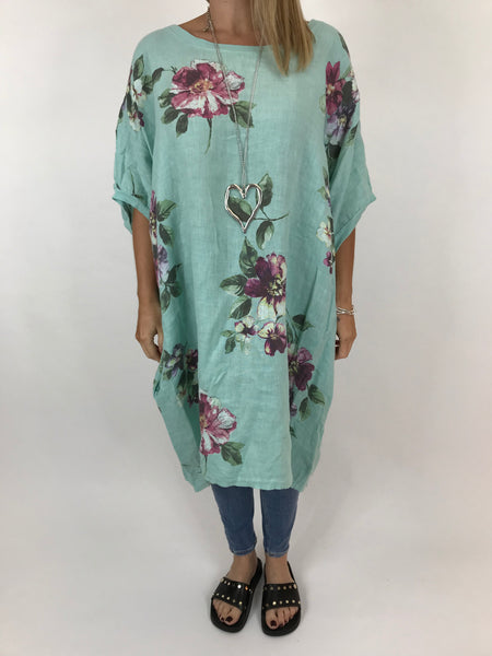 86bee1acee Lagenlook Nikki Summer Flower Tunic in Mint. code 5682 ...
