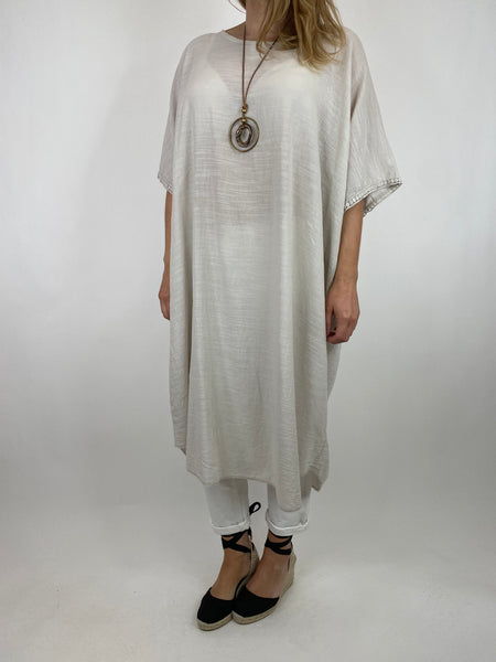 Lagenlook Anto Summer Cotton Tunic in Cream. code 9002