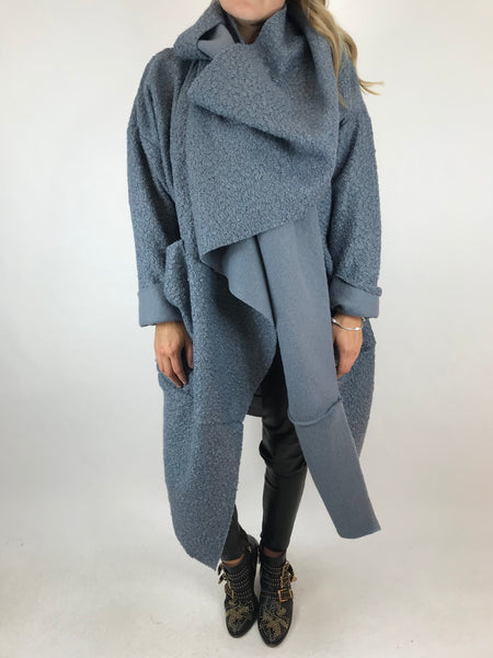 Lagenlook Verity Quirky Wrap Snood Plus Size in Light Grey. code 5554
