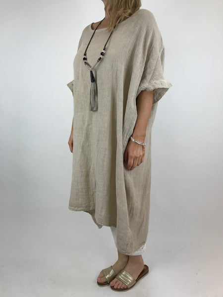 Lagenlook Delto Summer Top in Beige. code 1029