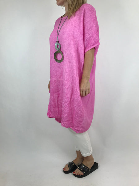 Lagenlook Quirky Janine Top in Fuchsia. code 5798