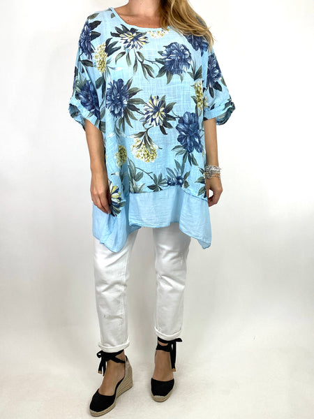Lagenlook Aster Tropical Flower Top in Sky. code 89420