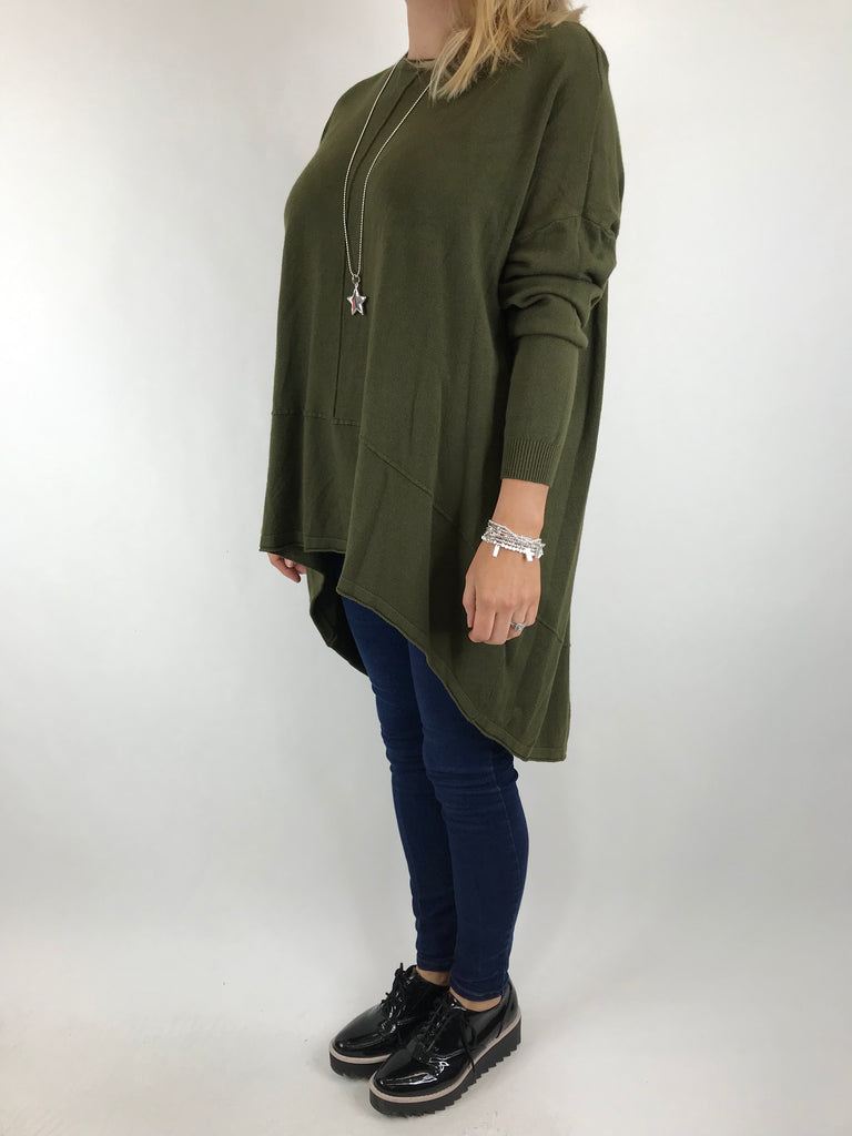 Lagenlook Millington  knit in Khaki. code 5977