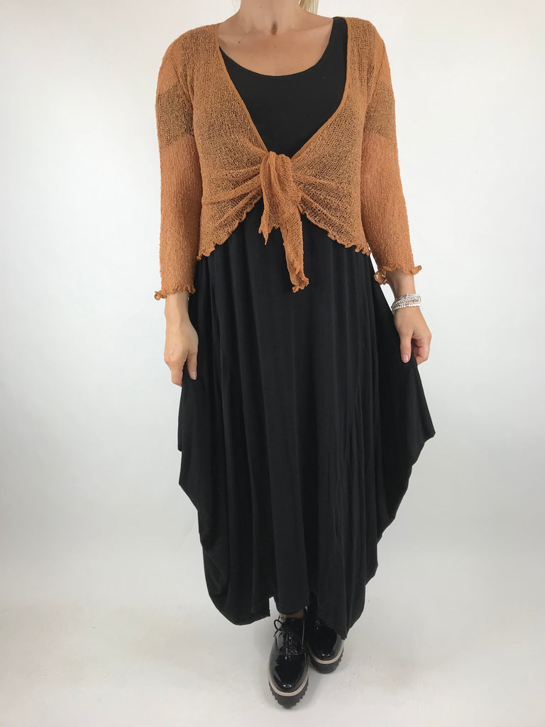 Lagenlook Crinkle Shrug in Copper. code 444