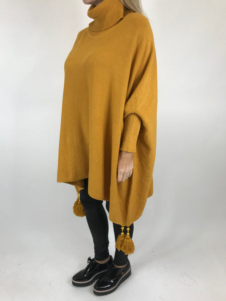 Lagenlook Melody Oversized Jumper in Mustard. code 2692 - Lagenlook Clothing UK
