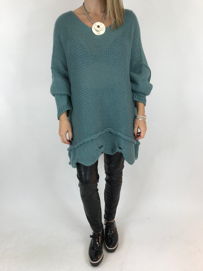 Lagenlook Lilly Jumper in Seaweed. Code 5588