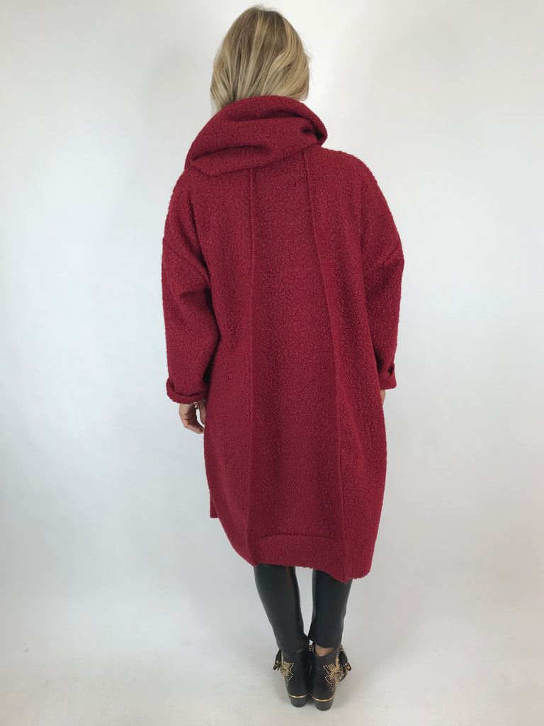 Lagenlook Verity Quirky Wrap Snood Plus Size in Wine. code 5554