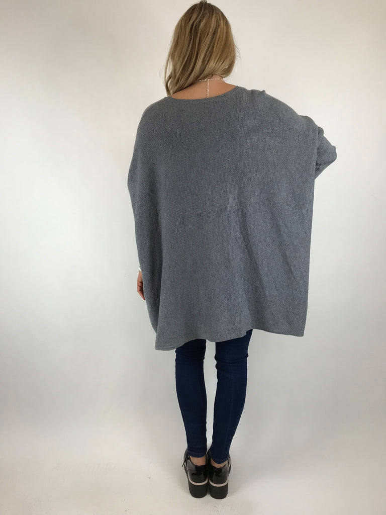 Lagenlook Saffie Tulip Jumper in Grey .Code 5618
