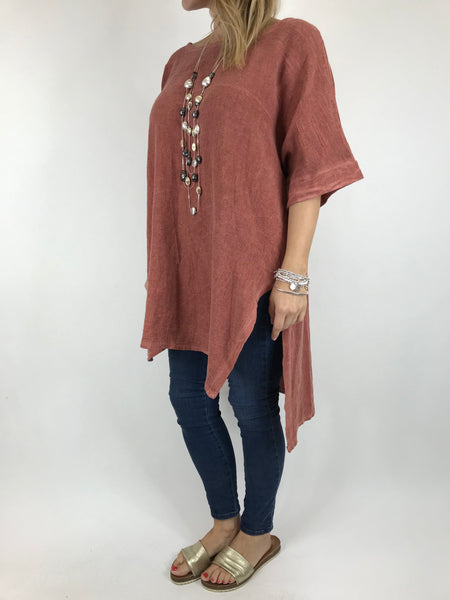 Lagenlook Alto Cotton Top in Brick . code 5912