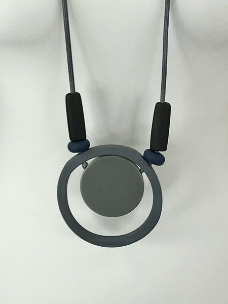 Lagenlook Statement Grey Hoop Necklace .Code 730-11grey
