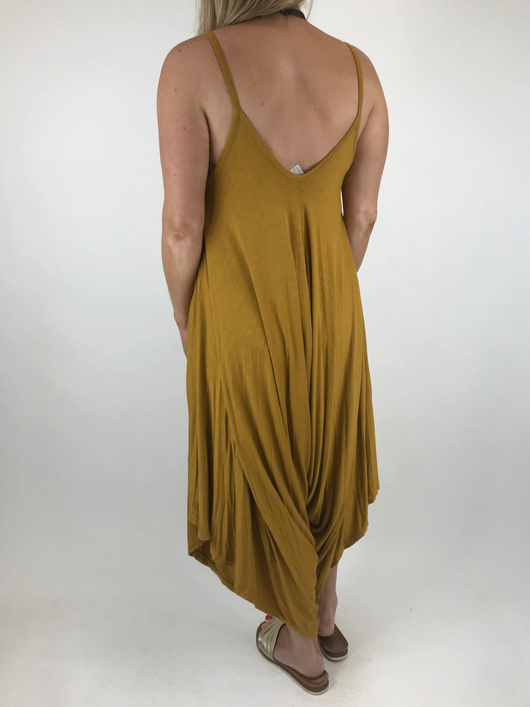 Lagenlook Ruby Jersey Jumpsuit in Mustard. code 1540