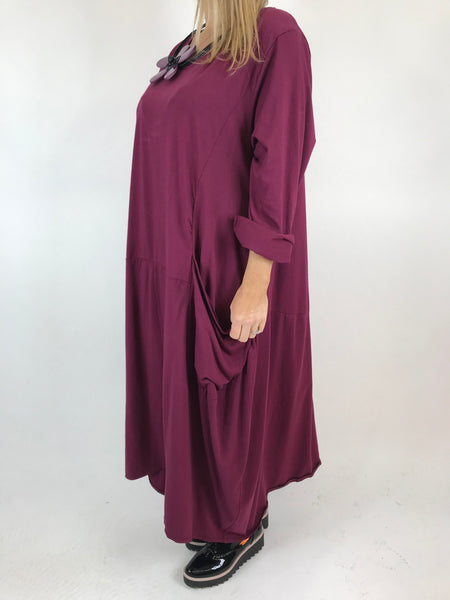 Lagenlook Josie Pocket Tunic in Wine. code 9081