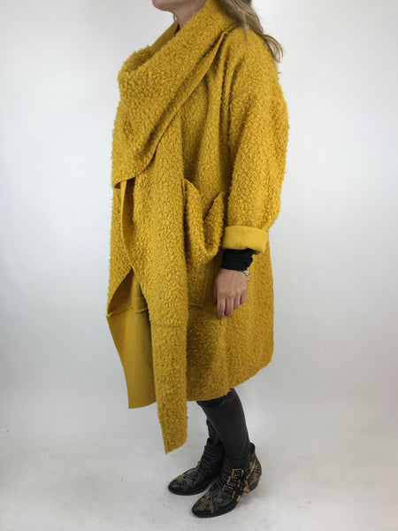 Lagenlook Verity Quirky Wrap Snood Plus Size in Mustard. code 5554