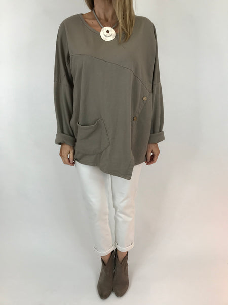 Lagenlook Kit Short Top in Mocha. code 5624