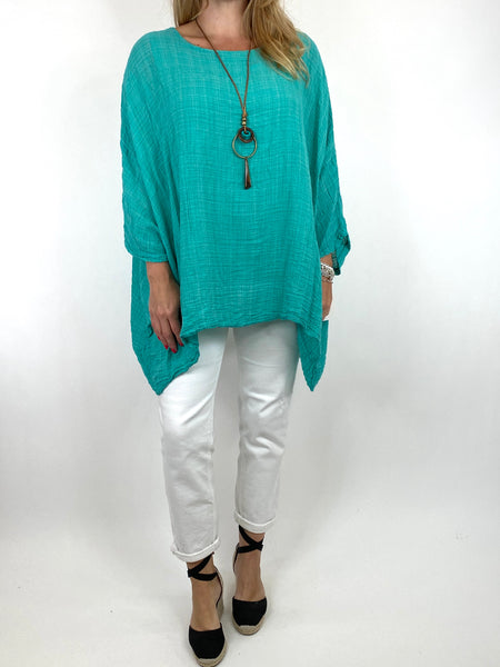 Lagenlook Nina necklace top Regular size in Jade. code 9066