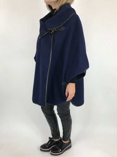 Lagenlook Buckle side Jacket in Navy. code 8458