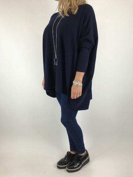 Lagenlook Saffie Tulip Jumper in Navy .Code 5618