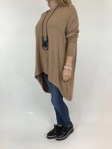Lagenlook Millington knit in Camel. code 5977