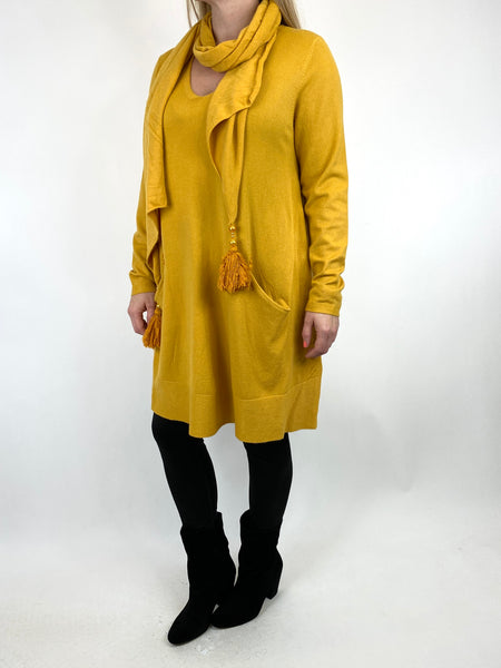Lagenlook Isabel Scarf Jumper in Mustard. code 2598 - Lagenlook Clothing UK