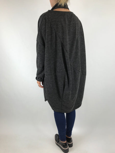Lagenlook Alps 2 Snood 2 piece in charcoal . Code 6004