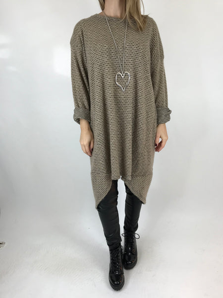 Lagenlook Nancy Winter Tunic in Beige. code 5532
