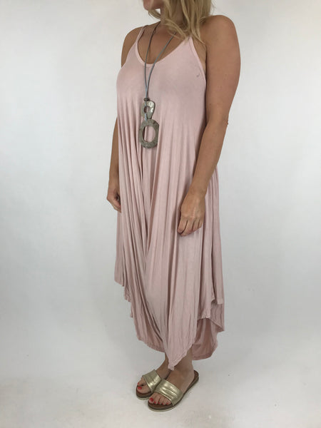 Lagenlook Ruby Jersey Jumpsuit in Pale Pink.code 1540