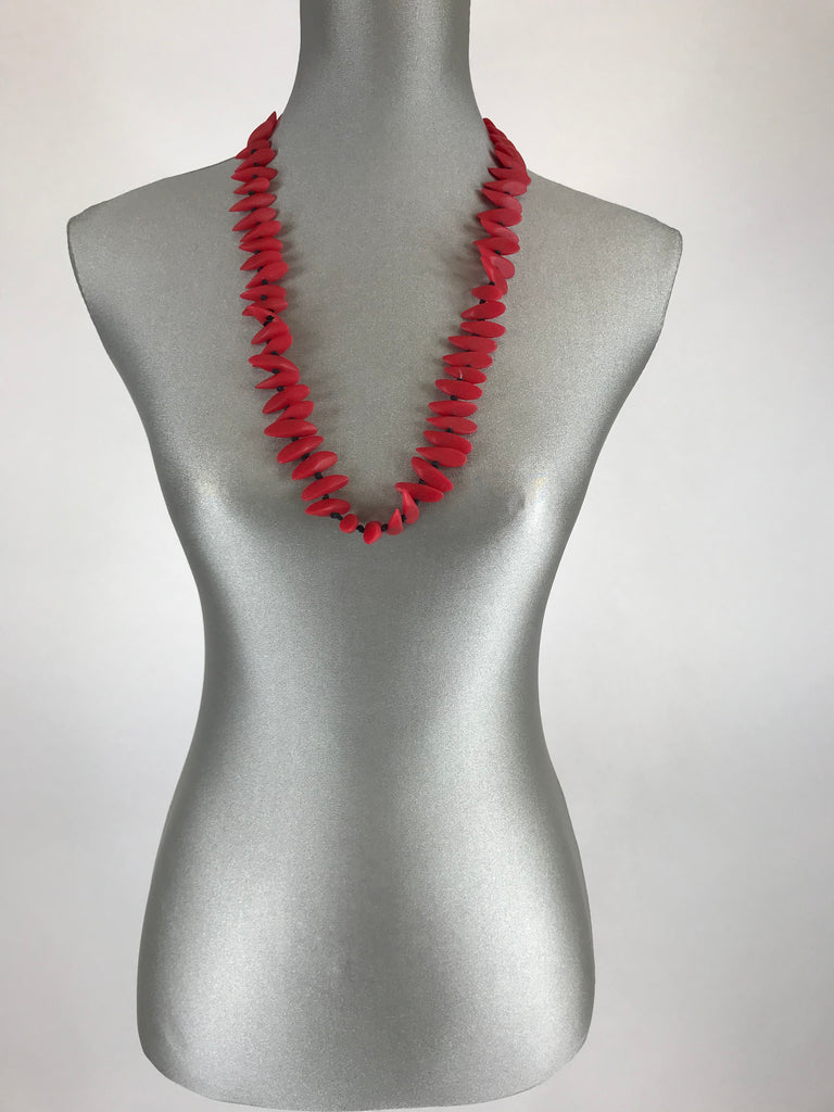 Lagenlook Resin Red Necklace. code BB6802r