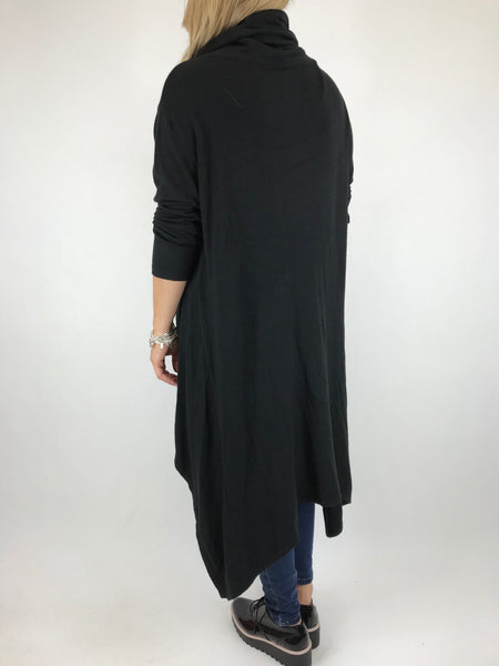Lagenlook Cowel Neck Jumper in Black code 5973