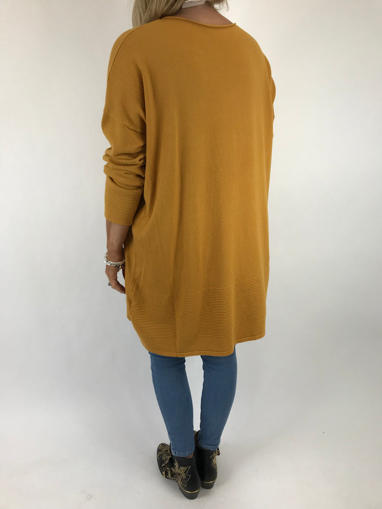 Lagenlook Diaz Star Jumper in Mustard. Code 5367
