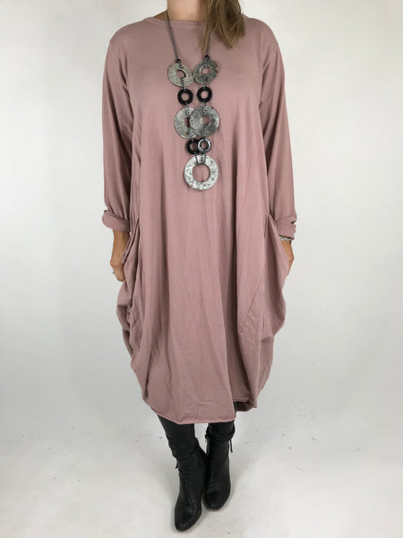Lagenlook Pocket side Tunic in Pink. code 4728
