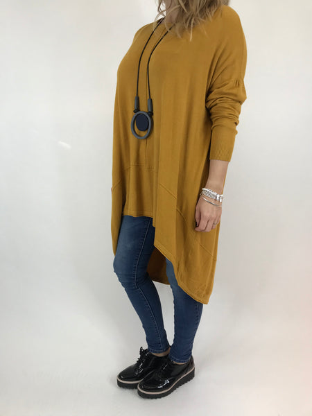 Lagenlook Millington knit in Mustard. code 5977